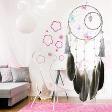 Hot Sale Butterfly & Bells Dream Catcher Handmade Exquisite Feather Beaded Large Dream Catchers for Kids/Cars/Bedroom Wall Hangi(China)