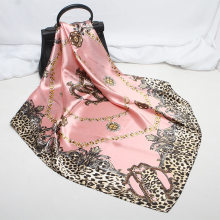 2021 nova moda lenço quadrado de seda para mulheres 90*90cm pescoço cabelo gravata banda saco urdidura macio lenço hijab feminino foulard