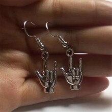 Eu te amo linguagem de sinais-asl amor-brinco de charme artesanal-presente de casais