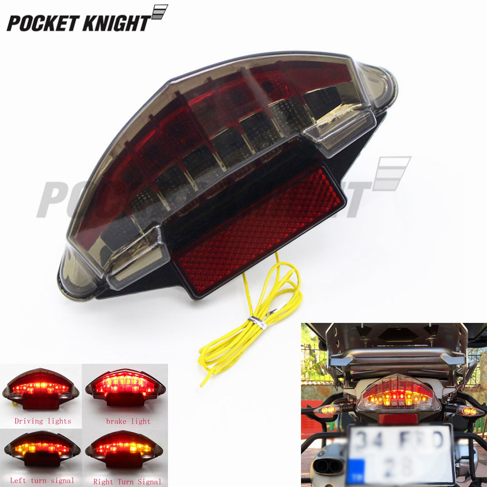For BMW F650 Dakar F650GS F650ST <font><b>R1200R</b></font> R1200GS Adventure Motorcycle <font><b>LED</b></font> Tail Light Brake Turn Signal Integrated image