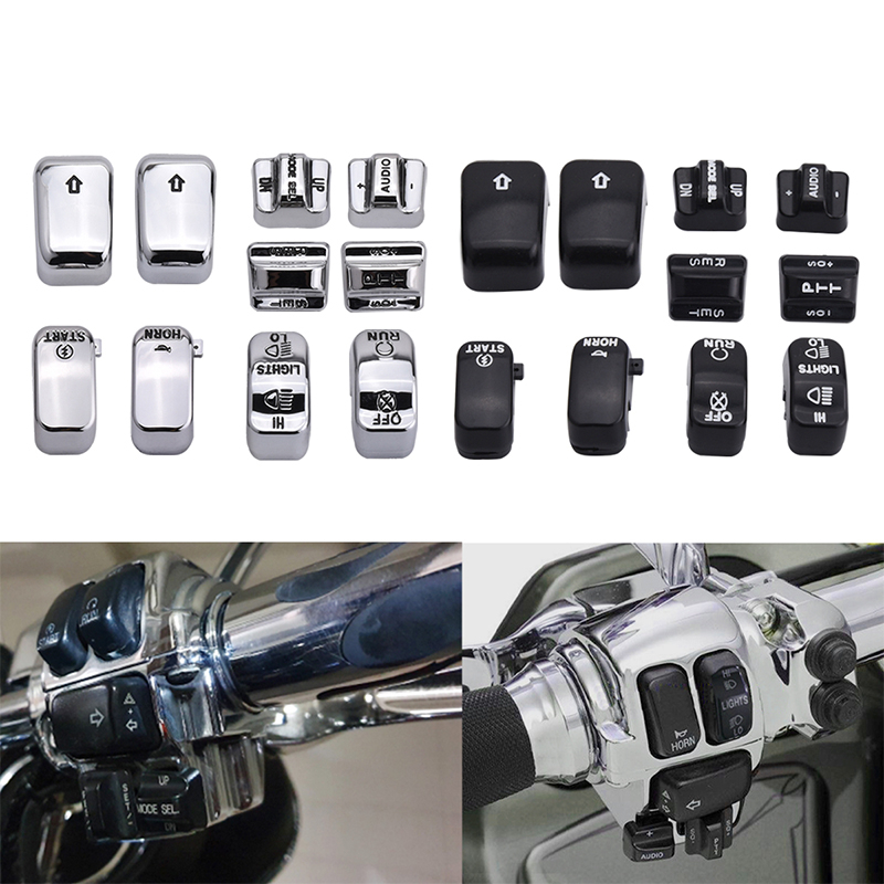 SPELAB Motorcycle Hand Control Switch Housing Buttons Caps Hand Control Switch For Harley Electra Glide SOFTAIL DYNA FLHT 96-13
