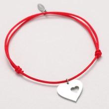 Coroa de gravura personalizada unissex, bracelete de coração personalizado com letras cruzadas