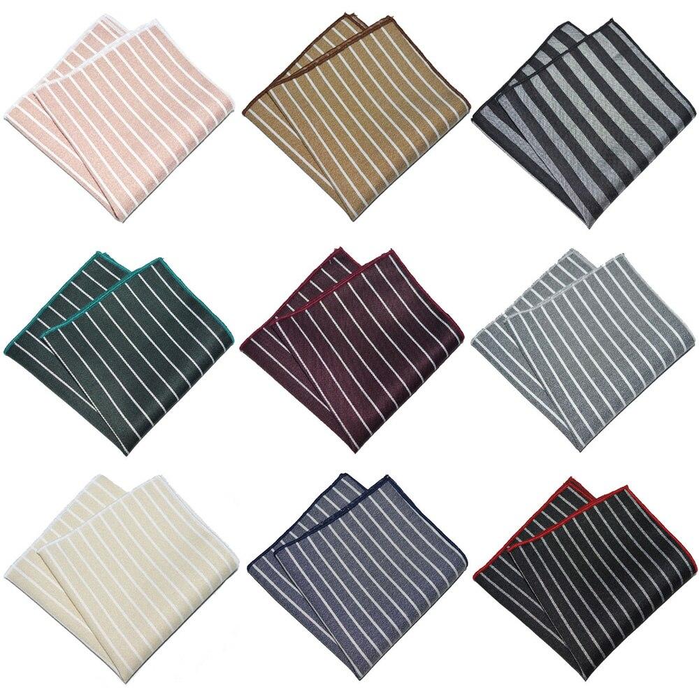 Мужской деловой Полосатый носовой платок Свадебная вечеринка формальный карман квадратный Hanky YXTIE0334