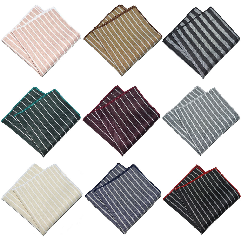 Mens Business Striped Handkerchief Wedding Party Formal Pocket Square Hanky YXTIE0334