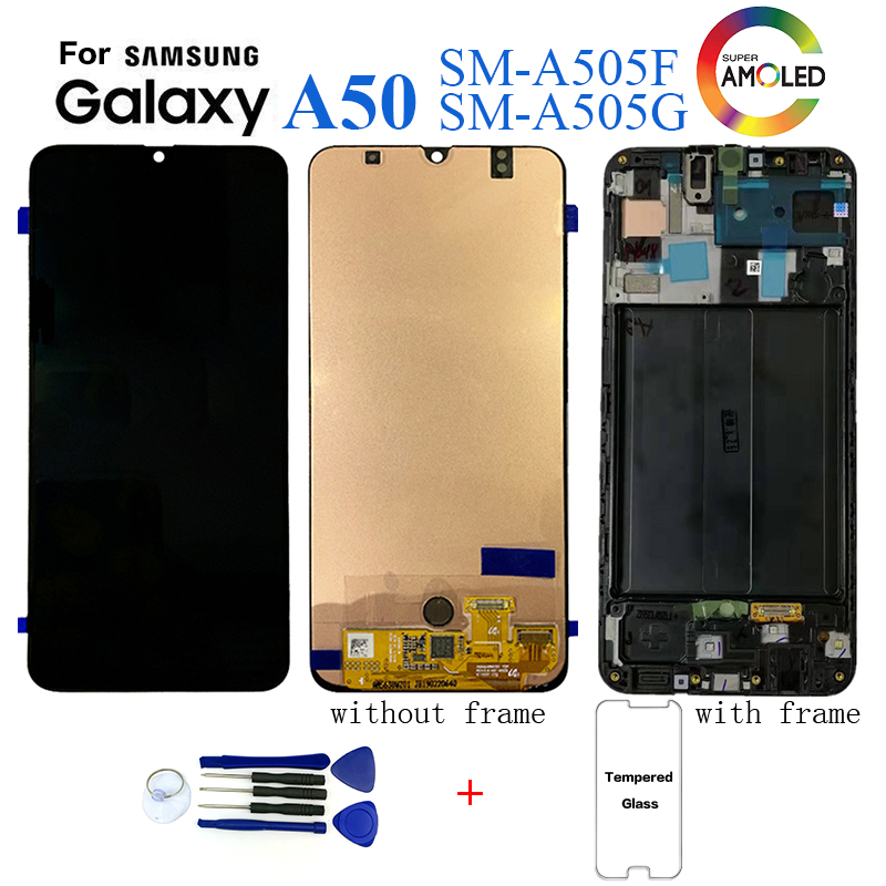 Original For <font><b>Samsung</b></font> Galaxy <font><b>A50</b></font> SM-A505F Display <font><b>lcd</b></font> Screen replacement for <font><b>Samsung</b></font> <font><b>A50</b></font> A505 A505G display <font><b>lcd</b></font> screen module image