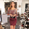 Sexy Off Shoulder Mini Summer Dress Women vintage Backless Sequin Christmas Woman Party Dress Club outfits Dresses Vestidos 2020