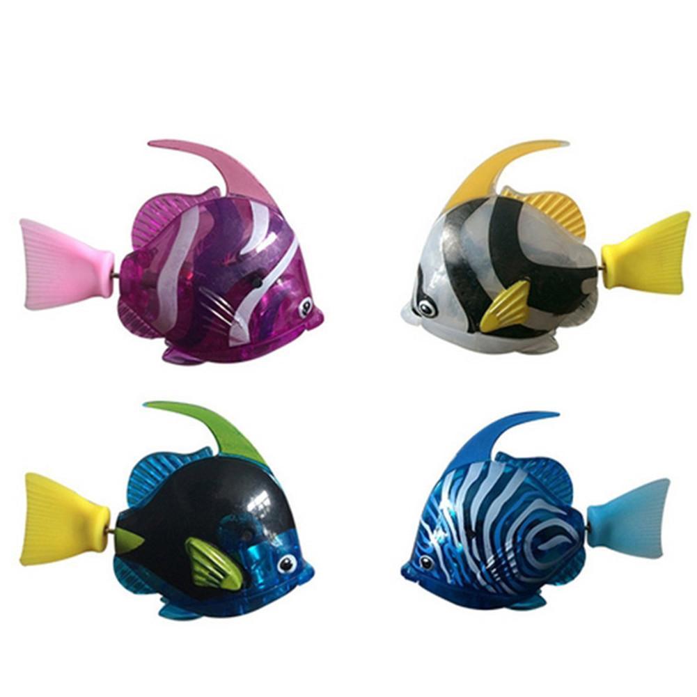 Swimming Robot Fish Children Interesting Light Sensing Simulation Fish Baby Swim Bath Toys Magical Electric Toy