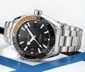 Lujo a estrenar hombres automático mecánico naranja negro cerámica bisel Azul Rojo Acero inoxidable James Bond 007 reloj de zafiro AAA +