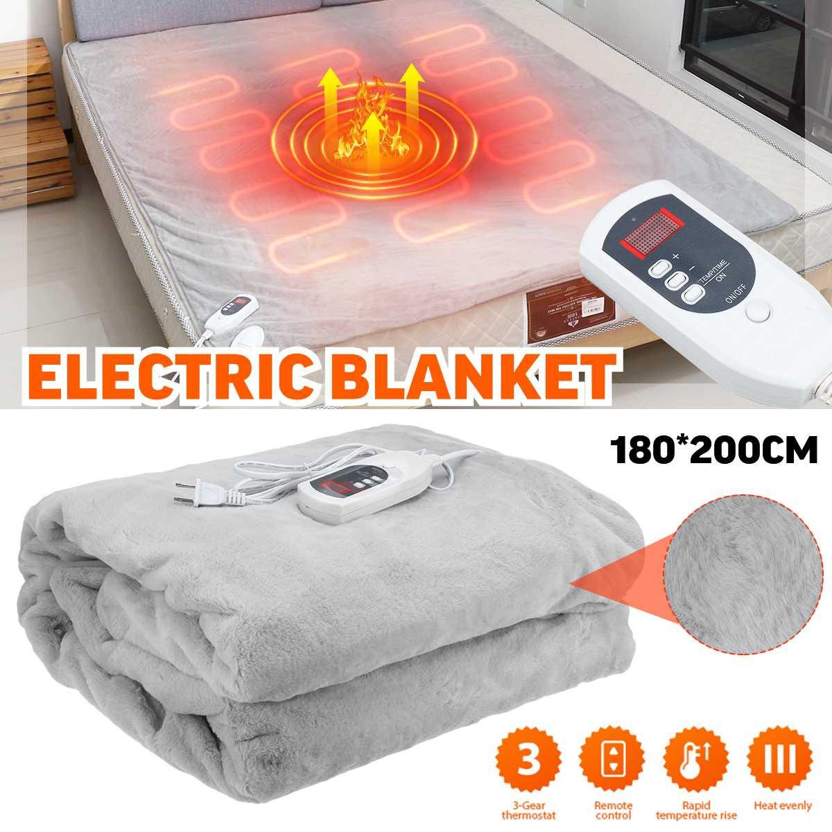Cobertor elétrico 110v cinza aquecedor quente cama