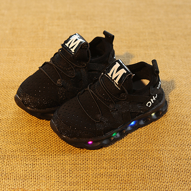 Kids Boy Girl sports Shoes LED Light Up Shoes Glowing Sneakers Luminous Sole Sneakers Comfortable Breathable Children Shoes #25