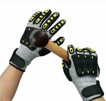 Wytrzymałe rękawice ochronne odporne na przecięcie odporne na wstrząsy rękawice przeciwuderzeniowe rękawice antykolizyjne TPR mechaniczne rękawice tanie i dobre opinie LPRED Nitrylowe CN (pochodzenie) RĘKAWICE ROBOCZE