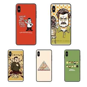 Black Soft TPU Screen Protector Funny Parks And Recreation For Children For Samsung Galaxy A5 A6 A7 A8 A10 A10S A20 A20S A20E image