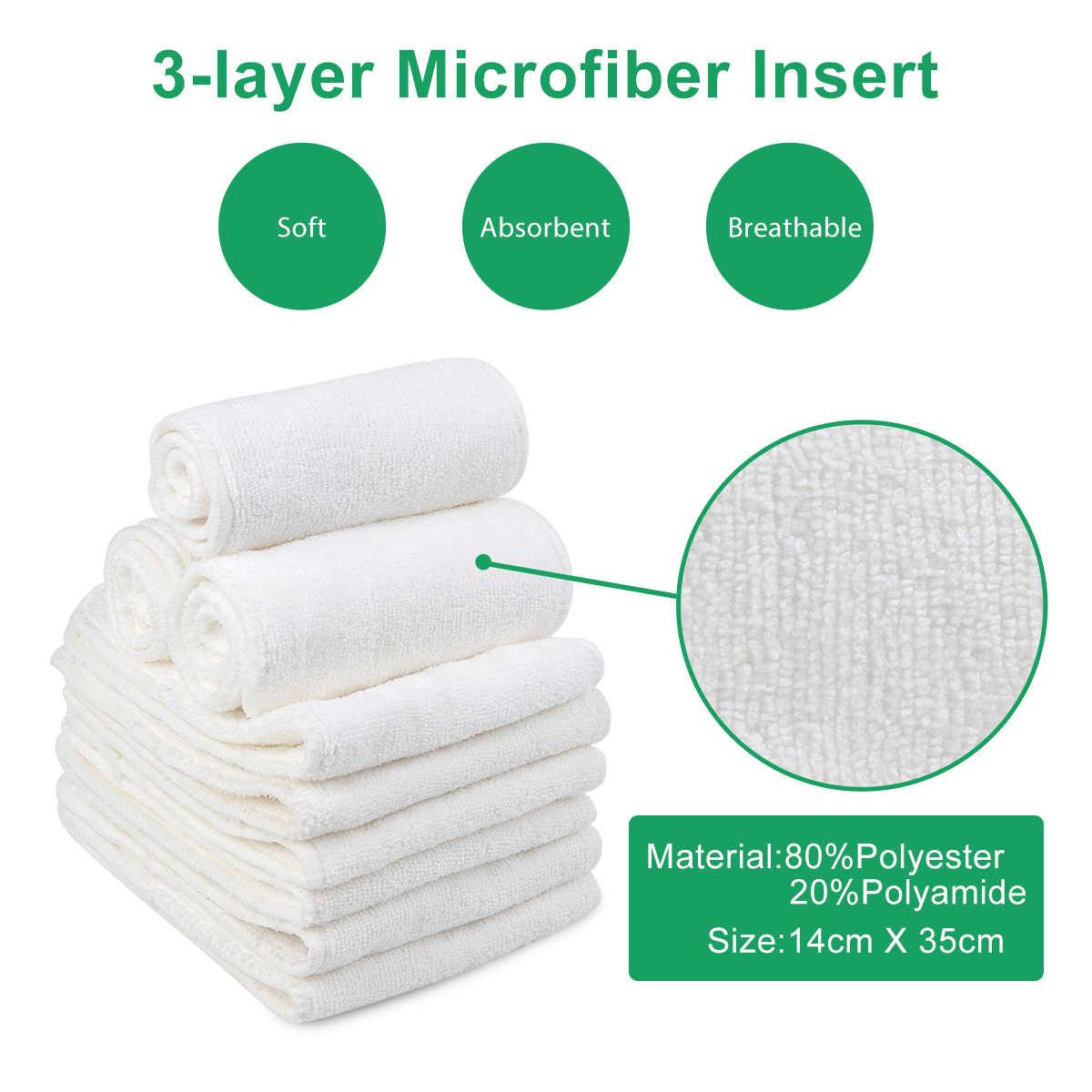 2020 Alvababy Popok Kain untuk Bayi Dapat Digunakan Kembali Popok dengan 1Pc Microfiber Insert