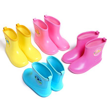 Children's rain boots boys baby water shoes girls rubber shoes children toddler lightweight skid rain boots