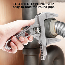 Adjustable Wrench Universal Monkey Spanner Multi-function plumbing Hand Tools Nut Sink Wrench Bathroom Pipe Large Open Spanner