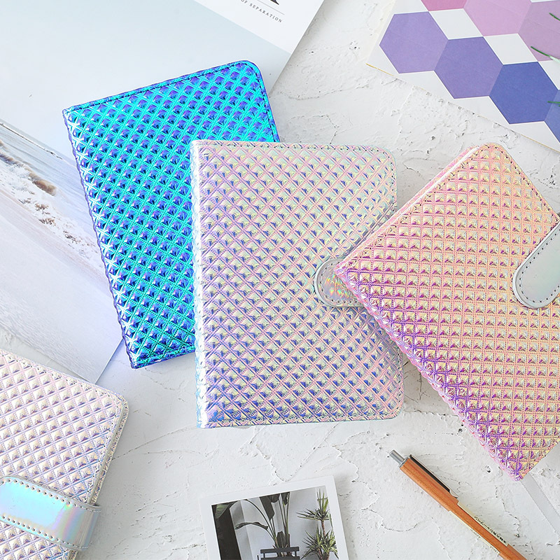 JUGAL Cute Colorful Laser Bullet Journal Monthly Plan Checkered Notebook Agenda 2020 Diary Notepad Papeleria Supplies Notebook