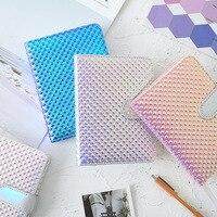 Jugal bonito colorido bala laser diário plano mensal quadriculado agenda caderno 2020 diário bloco de notas suprimentos papelaria caderno|Cadernos| |  -