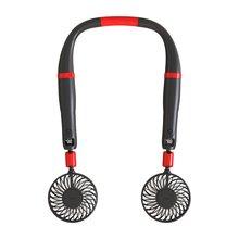 Two-In-One-Fan Hanging-Neck Adjustable Wind-2000mah Rotary-Fan Stronger Built-In-Battery