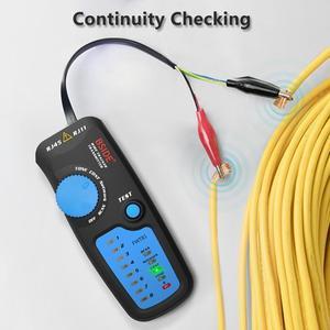 Image 4 - Detector de cable de red, FWT81, RJ11/45, Lan, Ethernet, teléfono, probador de cables, herramienta de telecomunicaciones, trabajo electrificado, 48V