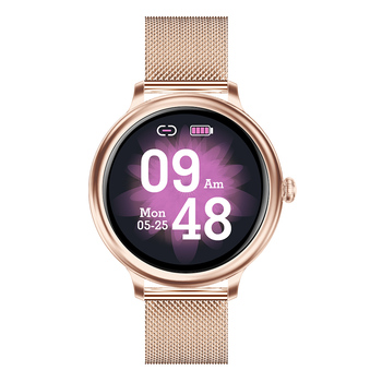 RUNDOING NY13 Smart Watch Women Full touch Heart Rate Monitor Sleep Tracker Calories Multi-Sport Smartwatch For Android IOS 7