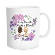 Blonde Beste Freund, Bestfriend Becher, Blonde Tasse, Brunette Becher, Brunette Freund, Blonde Kaffee Becher, beste Hündinnen Becher,(China)