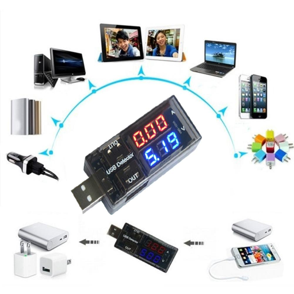 LED USB Phone Charging Power Current Voltage Tester Meter Detector Monitoring