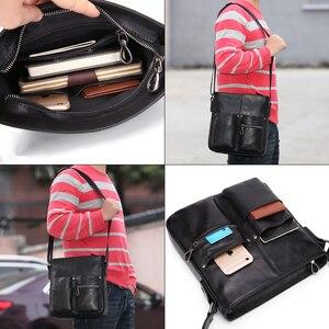 Image 5 - MISFITS 2020 nuovo cuoio genuino degli uomini borsa uomo borsa a tracolla di modo di affari della cartella crossbody bolsos borsa hombre maschio borse a tracolla