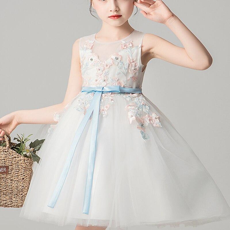 Mädchen Kleid Für Kinder Elegante Kleid Hochzeit Party Kleidung Kleid Blume Sicke Kleid Prinzessin Sommer Mädchen Kleid Kostüme 2995