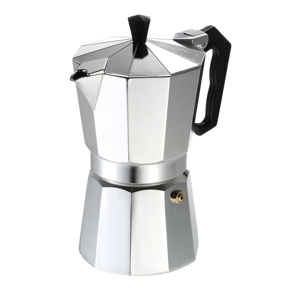 Aluminum Coffee Pot 50Ml 1Cup Coffee Maker Espresso Percolator Stovetop Mocha Pot Electric Fashion Stove