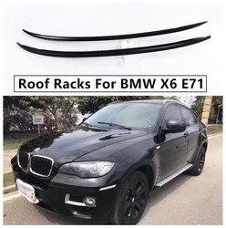 Dla BMW X6 E71 2008 2014 bagażniki dachowe bagażnik Bar wysokiej jakości ze stopu Aluminium ze stopu Aluminium akcesoria do modyfikacji samochodów w Bagażniki i boksy dachowe od Samochody i motocykle na