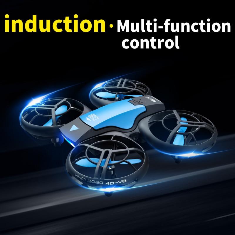 2021 Nieuwe V8 Mini Drone 4K 1080P Hd Camera Wifi Fpv Luchtdruk Hoogte Hold Zwart Quadcopter Rc drone Speelgoed 4