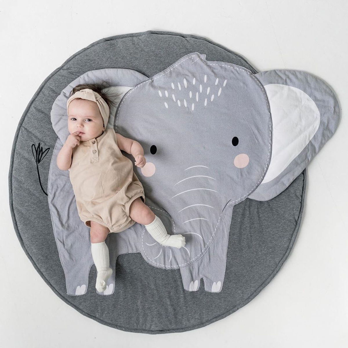 New Pattern Baby Play Mats Kids Crawling Carpet Floor Rug Baby Bedding Elephant Blanket Cotton Game Pad Children Room Decoration
