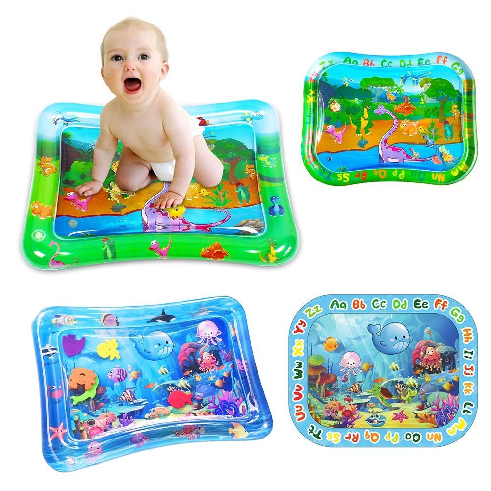 Kid Baby Inflatable Cartoon Underwater World Dinosaur Water Play Mat Game Pad Toy Kids PlayMat Pads