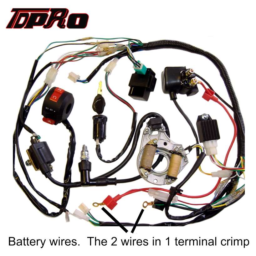 wire harness box tdpro complete electric wire coil cdi box spark plug wiring wire harness board accessories wire coil cdi box spark plug wiring
