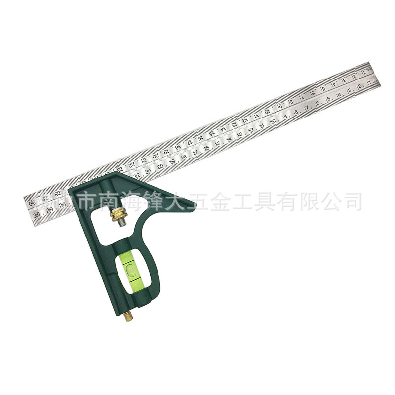 LRT Stainless Steel Top Grade Measuring Tools Combination Angle Ruler Right Angle 90-Degree Angle Ruler Woodworking Universal An