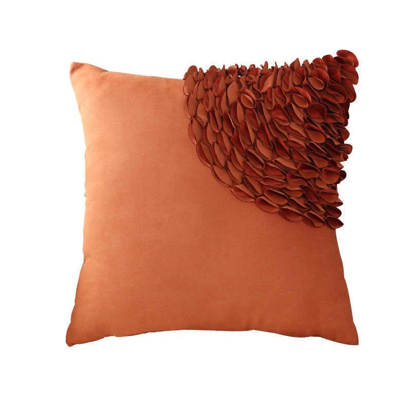 الموضة تصميم الليزر مخدة ناعمة حالة شمال أوروبا وسادة أريكة غطاء الجلد المدبوغ كيس وسادة الزخرفية غطاء الوسادة 45x45 سنتيمتر D006
