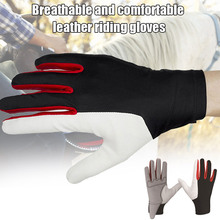 Golf Gloves Horse Gloves Equestrian Training Golf Breathable Comfort PU Leather Riding Glove FDX99