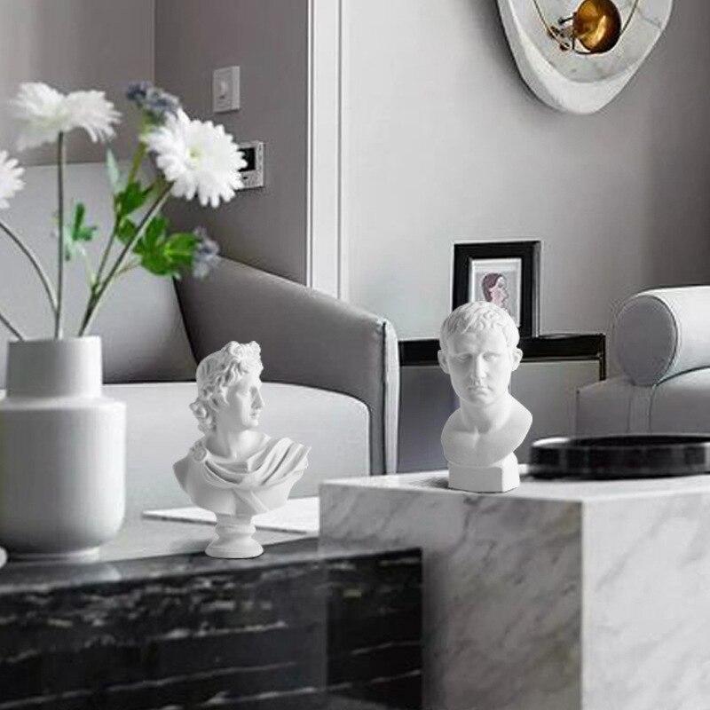 Strongwell всемирно известная статуя ретро искусство голова смолы скульптура черепа эскиз абстрактный эскиз изображение стол Декор Фигурка рем...