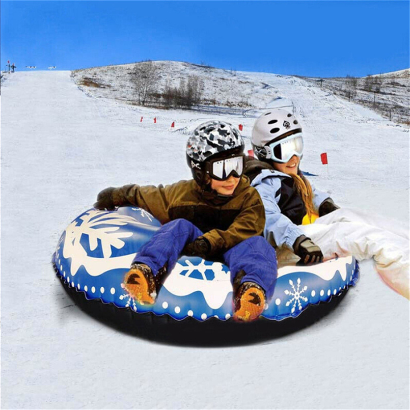 Winter Skiing Inflatable 47 Inch Entertainment Snow Tube Children And Adults Happy Winter Heavy Sled Impact Resistant PVC 30N14