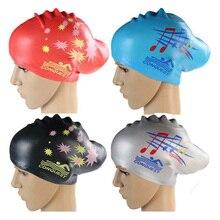 Женские плавательные шапки, силиконовые, супер большие, длинные волосы, для девушек, водонепроницаемые, большой размер, шапочка для плавани...