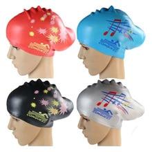 Женские шапки для плавания, силиконовая очень большая Водонепроницаемая шапка для плавания с длинными волосами для девушек, большие размер...