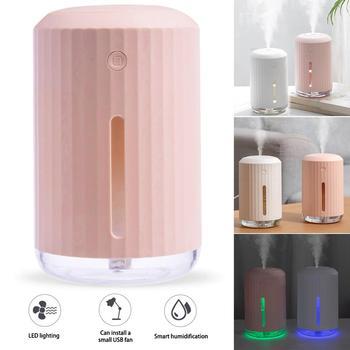 Humidificador de aire purificador para hogar, USB, oficina, coche, gran capacidad, 320ml,...