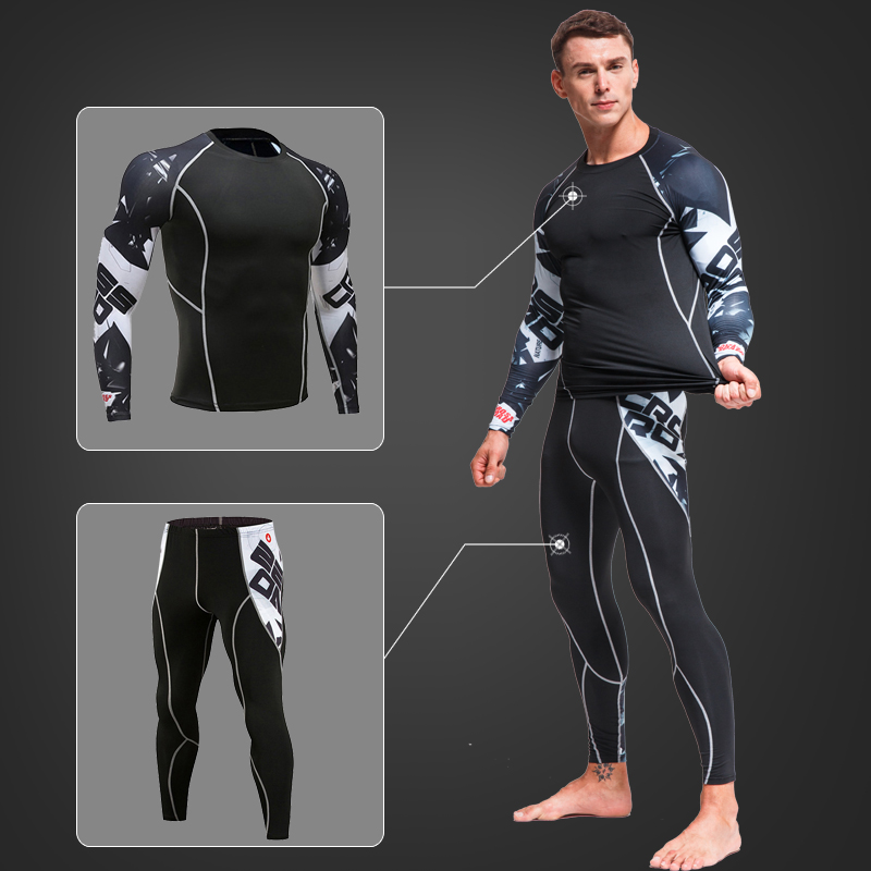 Free Shipping Thermal Underwear Men 'S Clothing Winter Warm Shirt Thermal Pants Sports Set Underwear Large Size