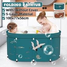 100cm banheira adulto dreno banheira dobrável banheira criança piscina adulto sauna spa lavagem de corpo inteiro casa banho barril artefato