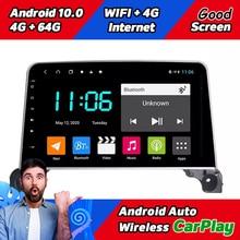 128Gb Rom Auto Radio Stereo Receiver Scherm Voor Peugeot 3008 4008 5008 Serie 2016 2019 Android 10 Multimedia gps Navigatie