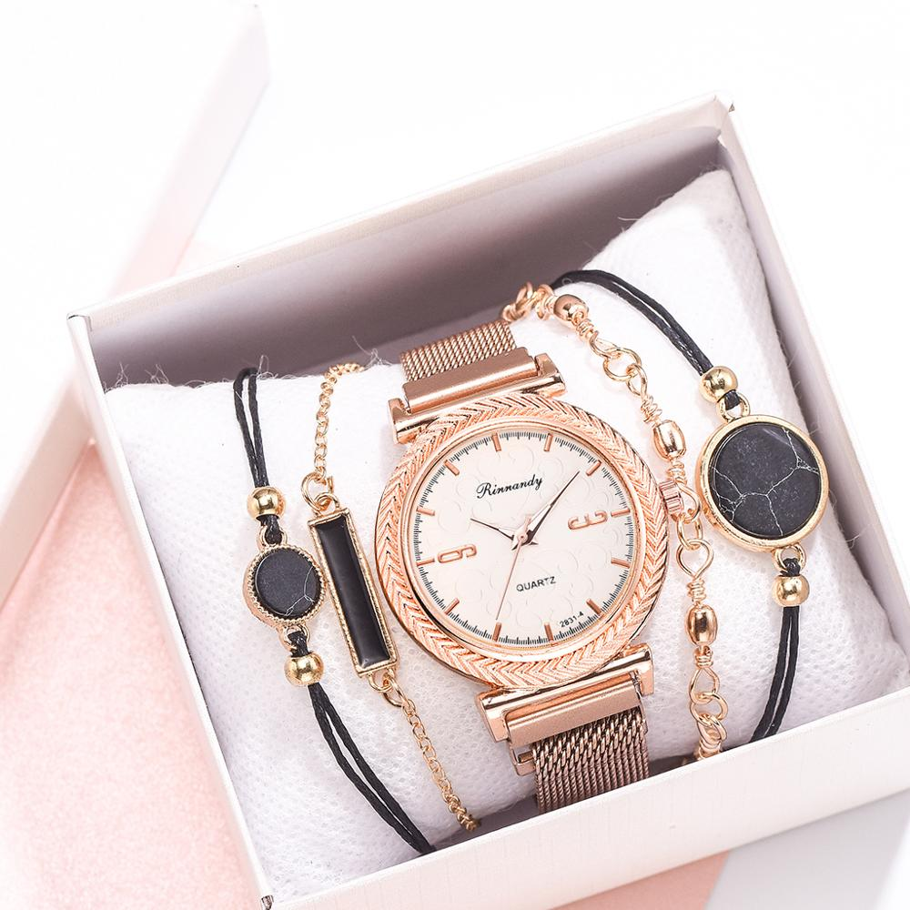 Fashionable Women's Magnet Watches Luxury Ladies Quartz Wristwatches Fashion Women Watch Female Clock Reloj Mujer Hot Sale