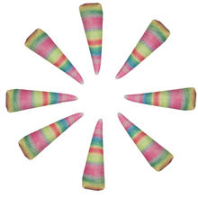 5pcs Rainbow Unicorn Horns for Kids Headbands Felt Padded horns DIY hair Accessories,Glitter For Party