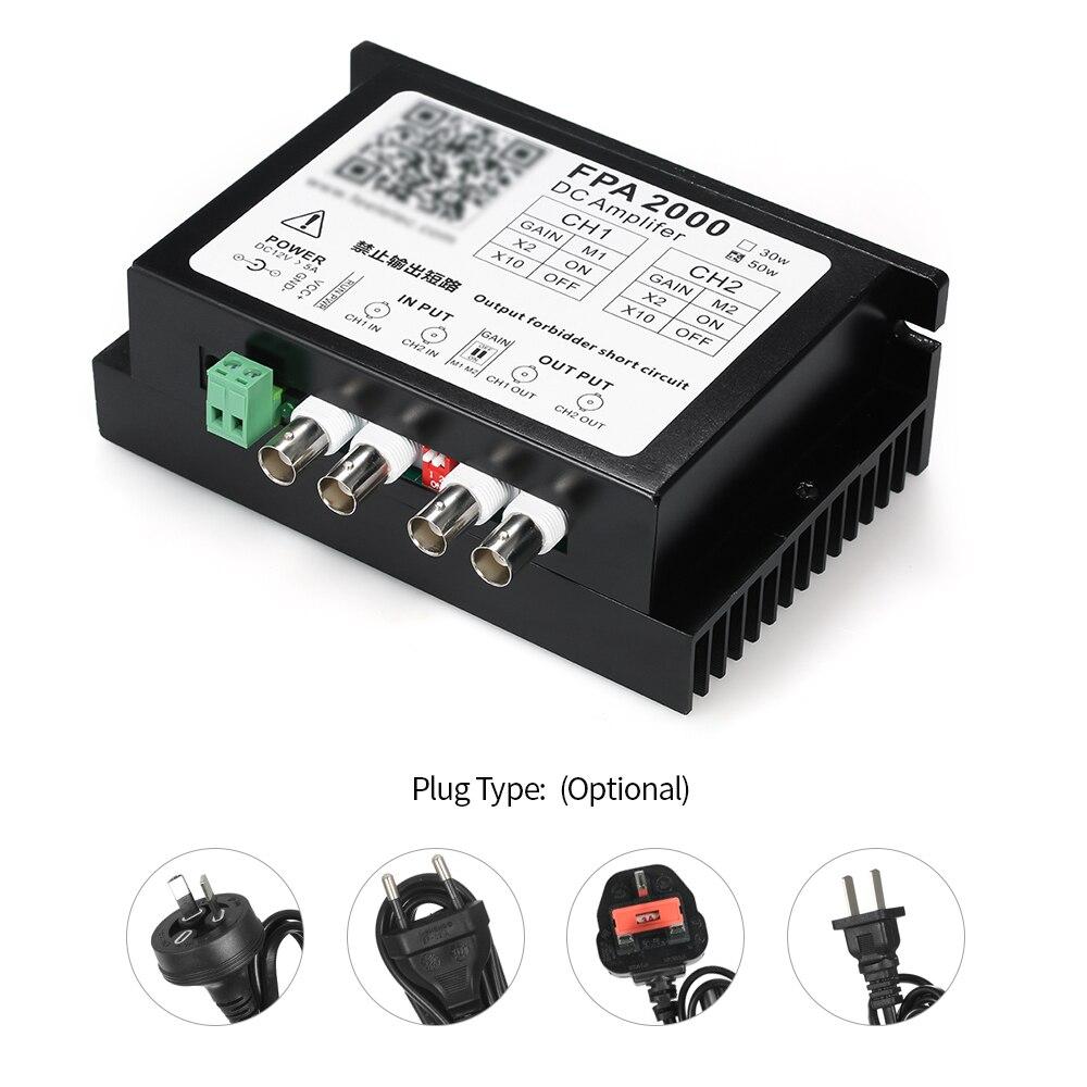 Amplificateur de puissance double canal 50W amplificateur de puissance DC alimentation unique pour tout générateur de Signal amplificateur 2 signaux en même temps