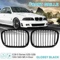 Передний бампер капот почек решетка гриль для BMW E39 5 серии 525I 528I 530I 540I M5 4-двери 1997-2003 (блестящая черная оправа) 51137005837 511