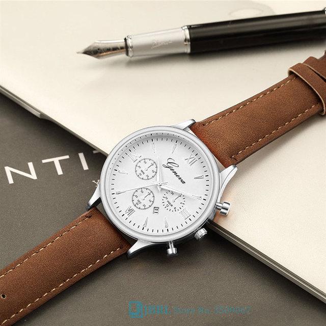 Black Wrist Watch Men Watches Business Fashion Style New Wristwatch PU Leather Male Quartz Watch For Men Clock Hours Hodinky